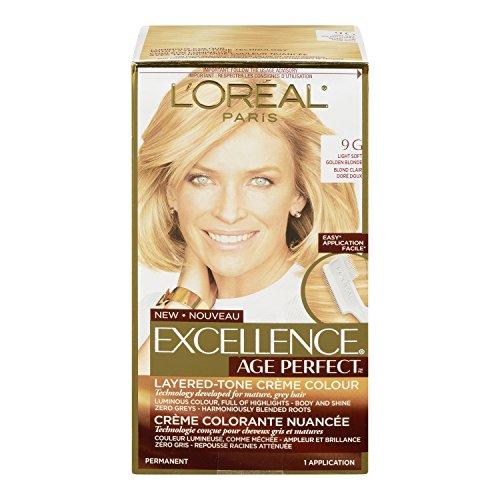 Price comparison product image L'Oréal Paris Age Perfect Permanent Hair Color, 9G Light Soft Golden Blonde