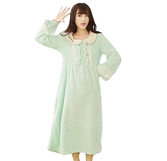 suche nach neuesten Original niedrigerer Preis mit Nachthemd Damen Lang Winter Fashion Nachtkleid Locker ...