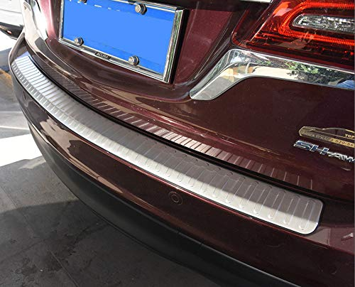 Chebay Rear Door Plate Bumper Cover Bar Sill Trim Protector Fits for Honda Acura MDX 2014-2017 by Chebay (Image #6)