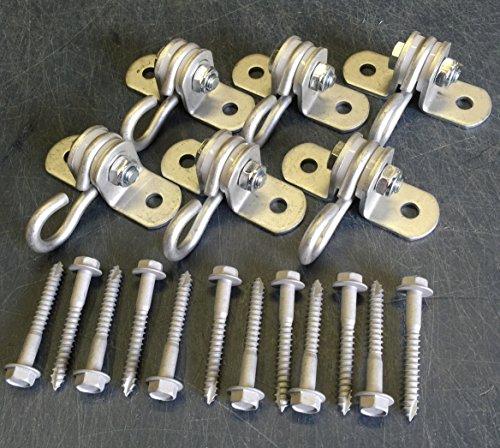 2 Hole Medium Duty Swing Hangers w/ Bolts (set of 6)
