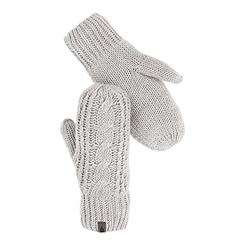 The North Face Cable Knit Mitt Womens Lunar Ice Grey Small/Medium