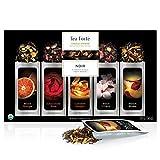 Tea Forte Noir Single Steeps Organic Loose Leaf Tea Sampler, 15 Single Serve Pouches - Bold Black Tea Varieties