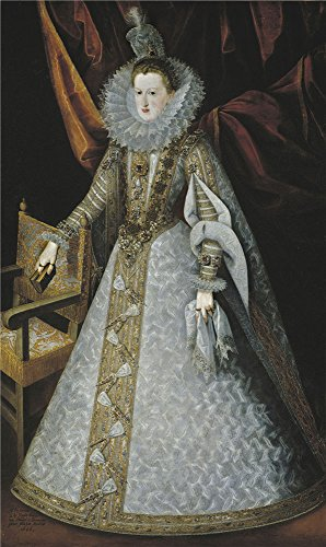 The Polyster Canvas Of Oil Painting 'Pantoja De La Cruz Juan Margarita De Austria Estiria Reina De Espana 1606 ' ,size: 16 X 27 Inch / 41 X 68 Cm ,this Best Price Art Decorative Prints On Canvas Is Fit For Foyer Gallery Art And Home Artwork And Gifts ()