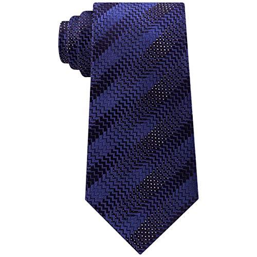 Sean John Mens Silk Herringbone Neck Tie Navy O/S