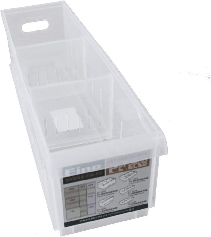 OC ORDEN EN CASA Y MUCHO MAS Caja Transparente con separadores 40,5 * 12,2 * 12,8cm: Amazon.es: Hogar