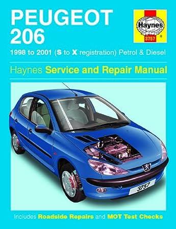 peugeot 206 repair manual haynes manual service manual workshop rh amazon co uk 205 GTI 306 Gti