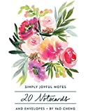 Simply Joyful Notes: 20 Notecards and Envelopes (Watercolor Blank Cards, Floral Stationery)