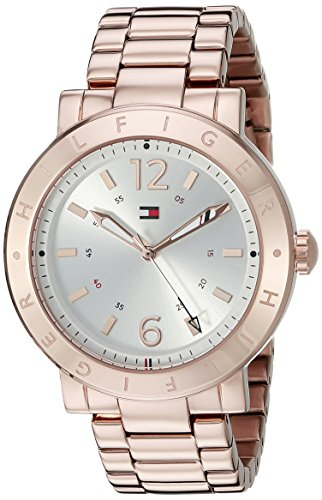 Tommy Hilfiger Women's 1781621 Casual Sport Analog Display Quartz Rose Gold-Tone Stainless Steel Watch
