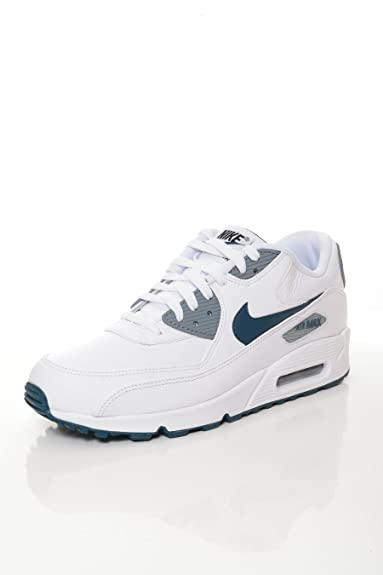 revendeur a454d 95b89 Nike - Basket Homme Air Max 90 Leather Blanche-Taille - 39 ...