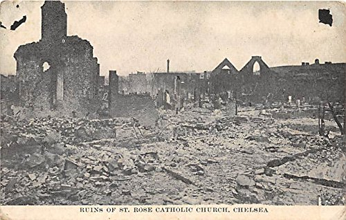 - Ruins of St Rose Catholic Church Chelsea Massachusetts Postcard