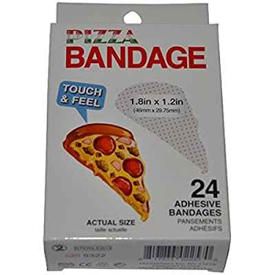 BioSwiss Novelty Bandages Self-Adhesive Funny First Aid, Novelty Gag Gift (2 Boxes of 24 Bandages) (Pizza): Toys & Games