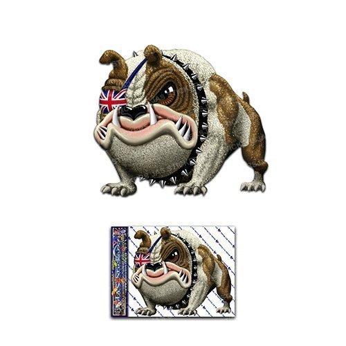 Etiqueta engomada divertida del perro animal d pegatinas redondas - ST00035UK_SML - Etiquetas engomadas de JAS