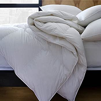 Image of 1221 Bedding Premium Luxury German Batiste Siberian White Goose Down Comforter King Home and Kitchen