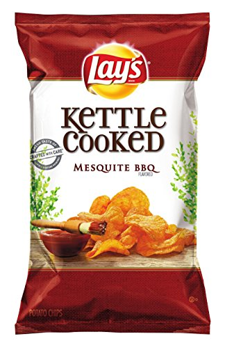 Lay's Kettle Cooked Chips, Mesquite BBQ, 32 Ounce