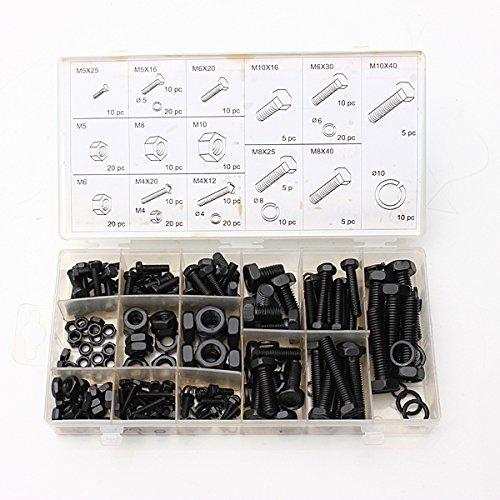 ExcLent 240pcs M4 M5 M6 M8 M10 Abstandshalter Schraubenmutter Schrauben Sortiment Kit