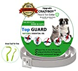 Anti Flea & Tick Collar for Dogs and Cats with Tick Remover, Natural & Safe
