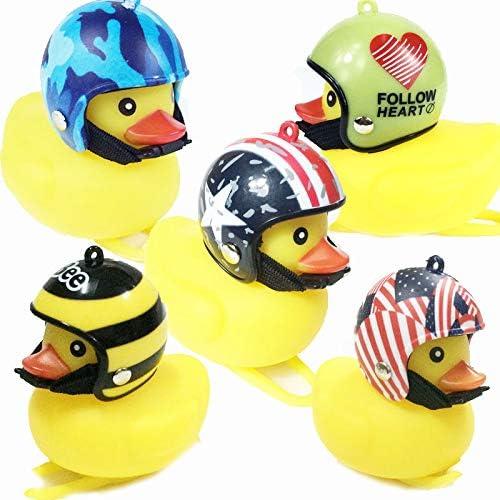 Dorime Helm Ente Glocke Mit Licht Gebrochen Wind Kleiner Gelber Ente Rennrad Motor Helm Reiten Radfahren Zubehör Mit Licht 2pcs Küche Haushalt
