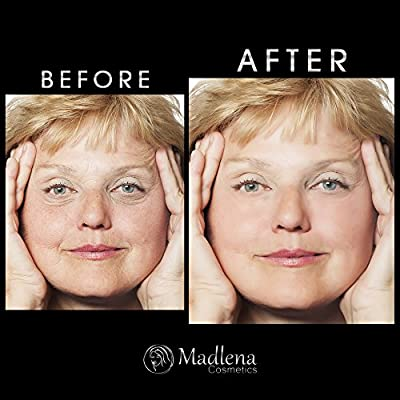 Madlena Premium Botox Alternative Anti-Aging Wrinkle Filler Cream, Instant Smoothing of Lines/Textures, Reduces Puffy Eyes, Fades Dark Circles (Two Pack)
