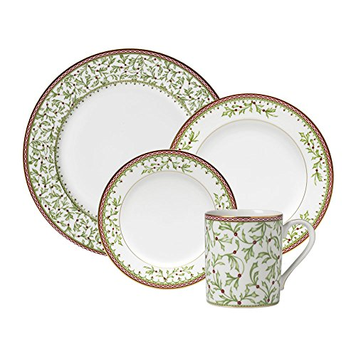 - Mikasa Holiday Traditions 16 Piece Dinnerware Set, Service for 4