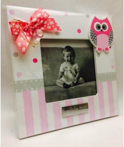 Portafotos PERSONALIZADOS para bautizo de niña marcos rosas ...