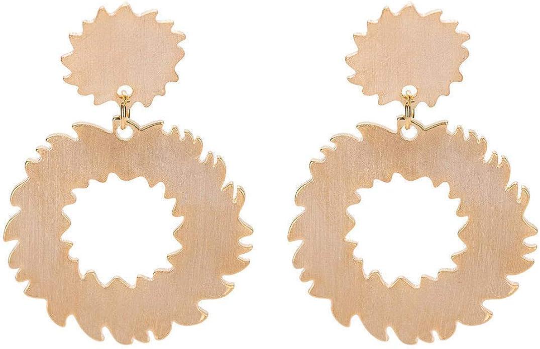 F-blue Donne Circolare Geometria Orecchini da Piercing dellorecchio dei monili delle Viti prigioniere di Nozze Regalo di Anniversario Signore