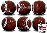 GBM Golf Football Golf Balls 6 Pack by