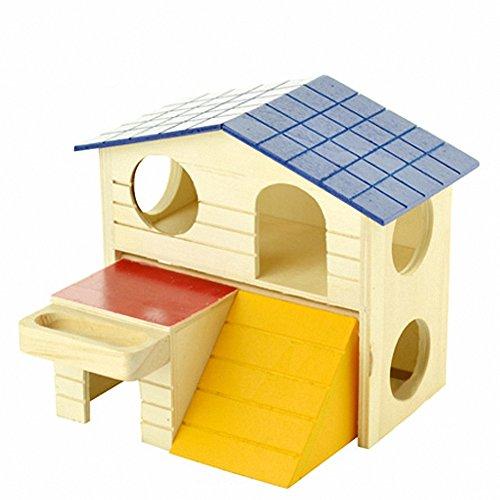 OMEM Hamster Swing Toys,Small Animal Hideout, Pet Mini Hut,Hamster Cabin,Hamster Cages,Pet Wooden Toys,Pet Hamster Toys by OMEM