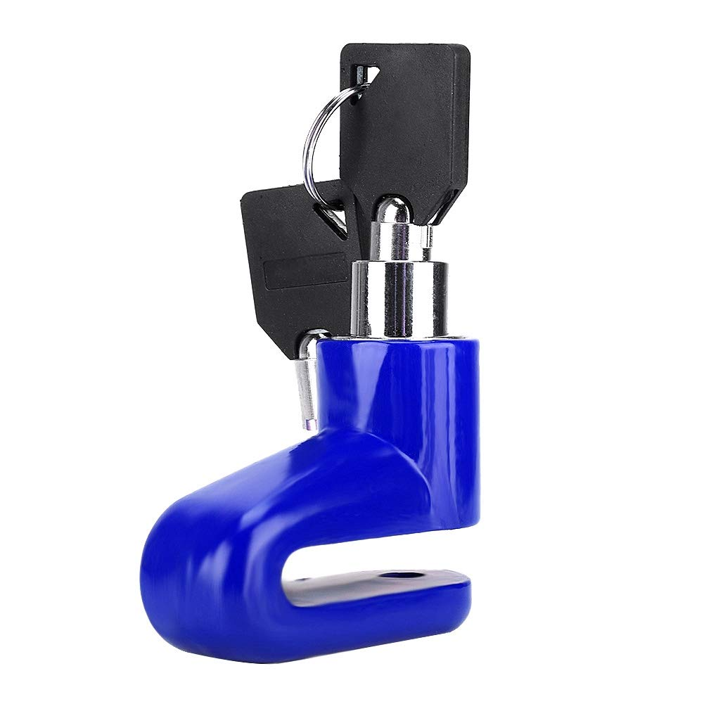Blue Security Disc Brake Lock Scooter Motorcycle Bicycle Anti-Theft Heavy Duty Bike Brake Wheel Disc Rotor Lock
