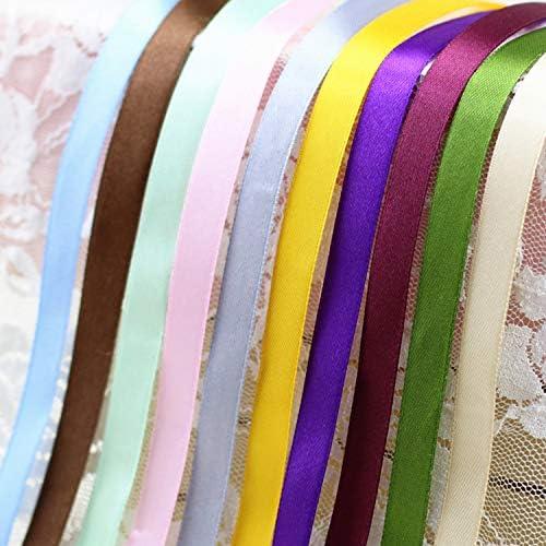 kawayi-桃 (25ヤード/ロール)片面サテンリボンウェビング装飾ギフトクリスマスリボン(6/10/12/15/40 / 50mm)-Chocolate-50mm