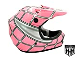 SmartDealsNow Helmet Pink Net Color Dirt Bike Style Youth Model