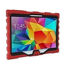 Hard Candy Cases Samsung Galaxy Tab 4 10-Inch Shock Drop, Red/Black (SD-SAM410-RED-BLK)