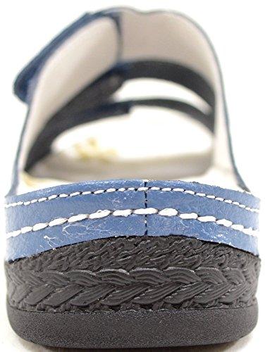 Damen/Damen Echt Leder Klettverschluss Sommer/Urlaub/Strand Sandalen/Schuhe Denim