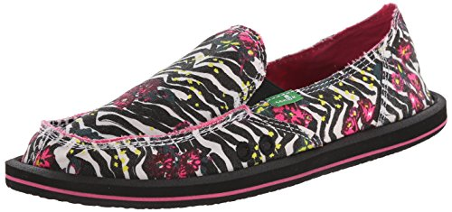 Sanuk Donna de la mujer mixed Up Slip-On Loafer Zebra Floral