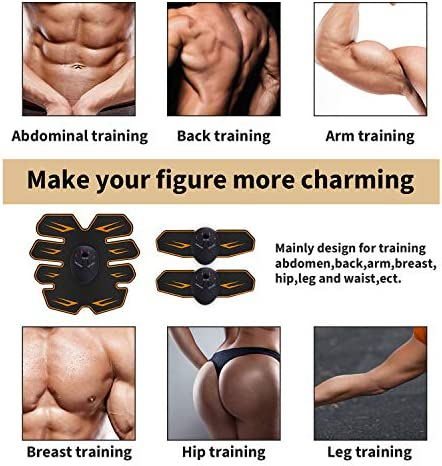 Abs Stimulator Workout Equipment for Home Workouts, Muscle Toner - Abs Stimulating Belt- Abdominal Toner- Training Device for Muscles- Wireless Portable to-Go Gym Device- Fitness Equipment, Black 2