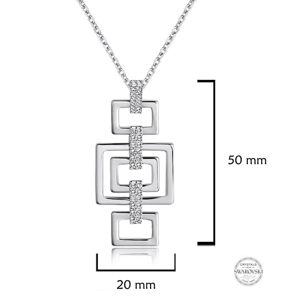 a2ad3a18b6a4b Samie Collection Dance Remix Necklace in Rhodium Plating with Swarovski  Crystal