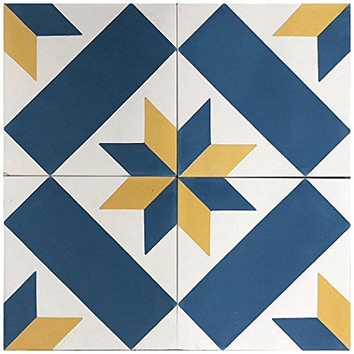 Rustico Tile and Stone RTS9.1 Estrella Cement Tile Pack of 13, 8