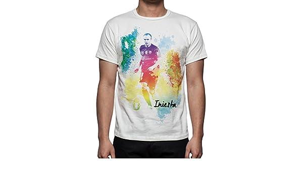 Palalula Hombre F.C. Barcelona Andres Iniesta Camiseta XXXL White: Amazon.es: Ropa y accesorios