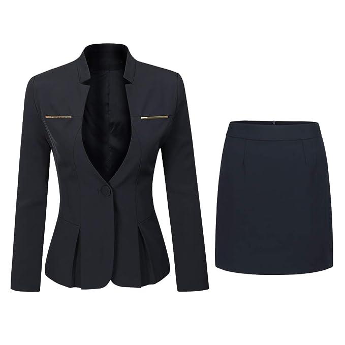 Amazon.com: Conjunto de falda de 2 piezas para mujer, estilo ...