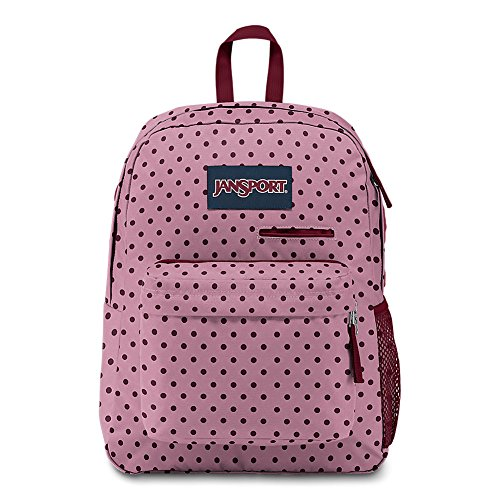 JanSport Digibreak Laptop Backpack - Vintage Pink Dot ()