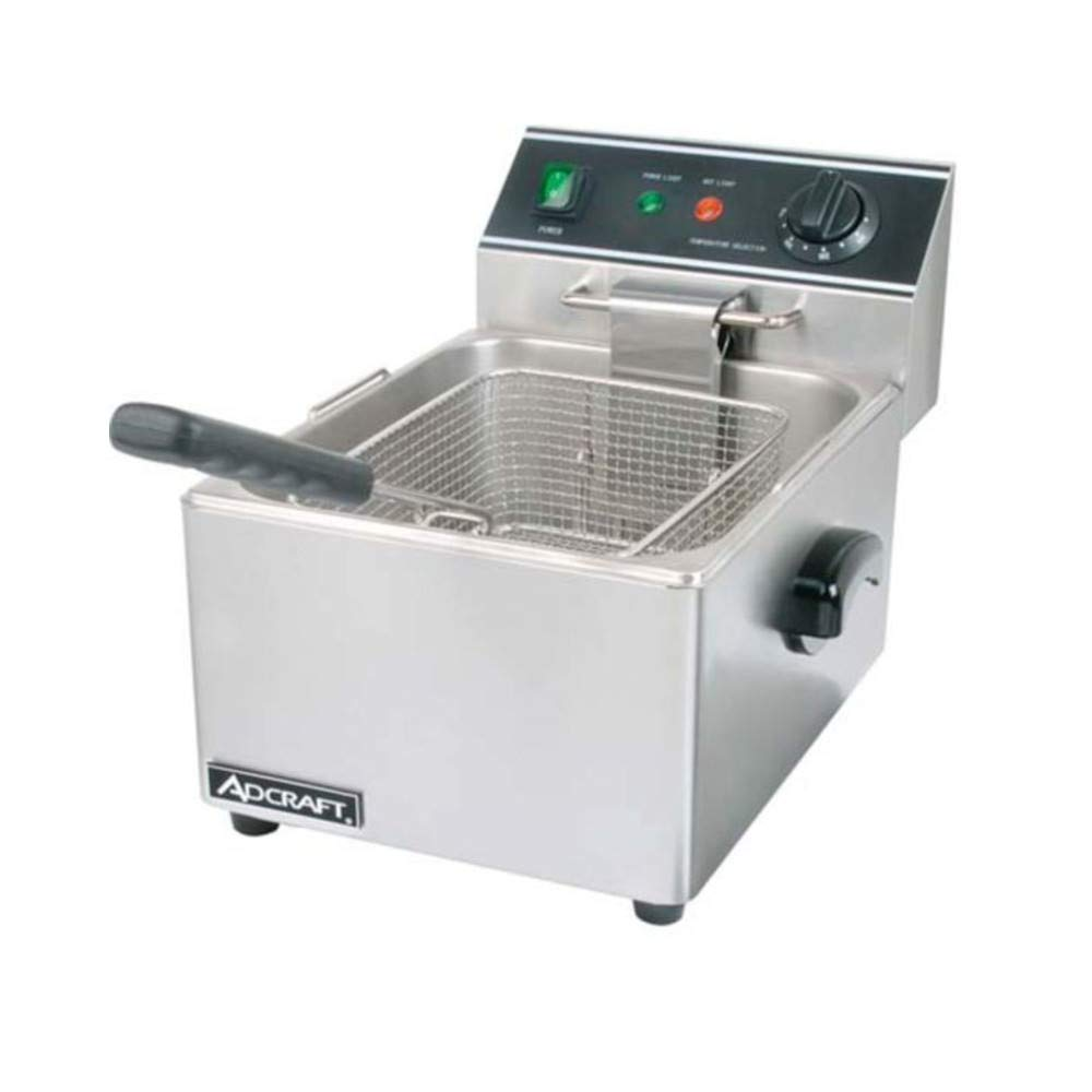 "Empura Countertop Stainless Steel Single Tank Deep Fryer 16""H x 11.75""W x 11.25""D 120V, 1750W"