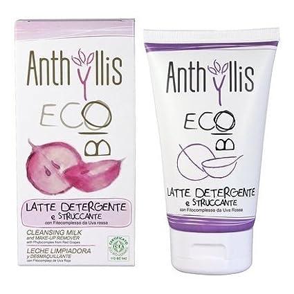 ANTHYLLIS - Latte Detergente e Struccante Biologico con Estratti di Uva Rossa - Antinfiammatorio e antiossidante con Protezione UV Yumi Bio Shop
