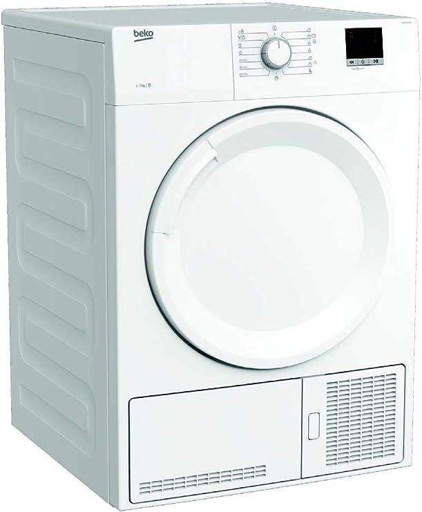 BEKO DB 7111 PA0 - Secadora Independiente, Carga frontal, Condensación, Giratorio, color Blanco