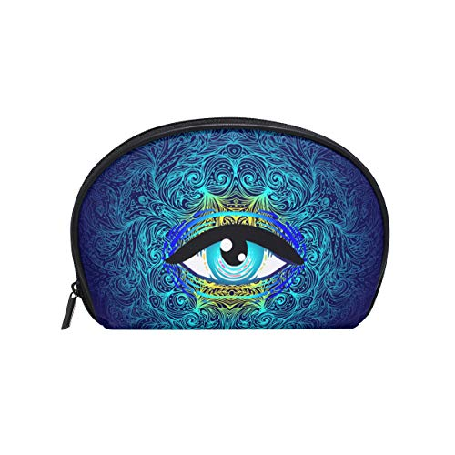 Makeup Bag Flower Mystic Cartoon Eye Cosmetic Pouch -