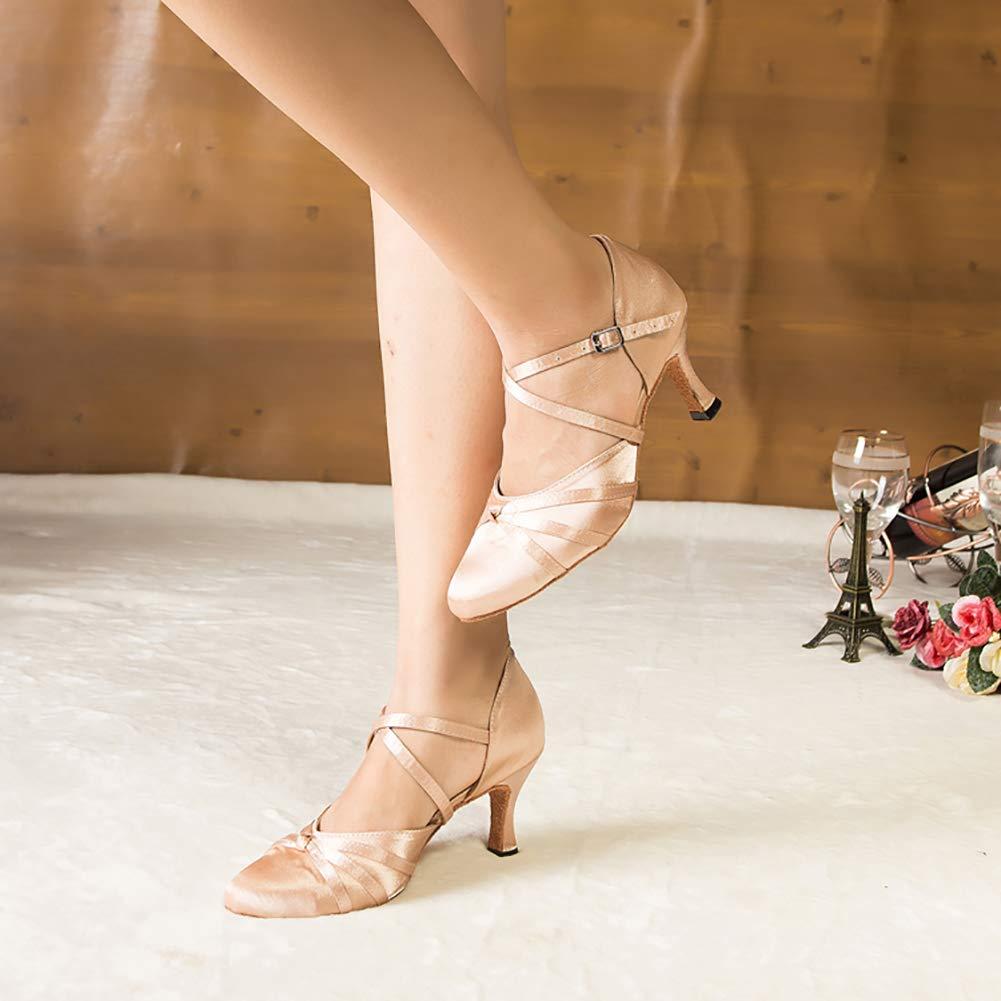 Damen-Tanzschuhe Damen-Tanzschuhe Damen-Tanzschuhe aus Netzstoff Satin lateinisch Salsa Ballsaal Tanzschuhe 84ab2d