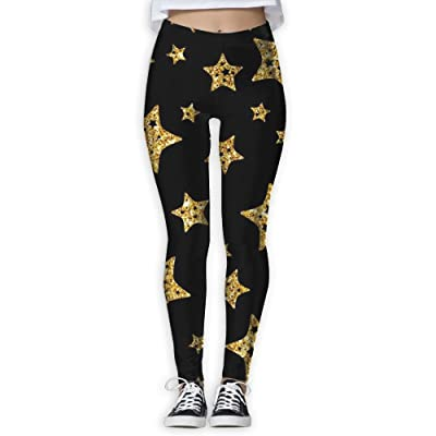 XDDFRTFF Women's Full-Length Yoga Pants 3D Printed Colored Stars Workout Leggings