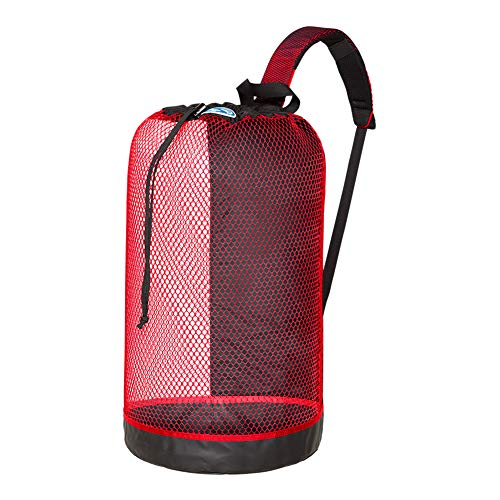 Stahlsac B.V.I. Mesh BackPack Perfect for Snorkeling Gear All Colors Snorkel Scuba Dive Diving Diver Beach Gear Boat Boating Sail Boat Sailing Travel Tote, RED by Stahlsac