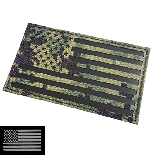 IR Large 3x5 AOR2 USA American Flag NWU Type III US Navy Seals DEVGRU Infrared Tactical Morale Hook&Loop -