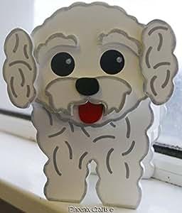 Bichon Frise cachorro perro perros mascota mascotas hacendado ornamentos del jardín decoraciones