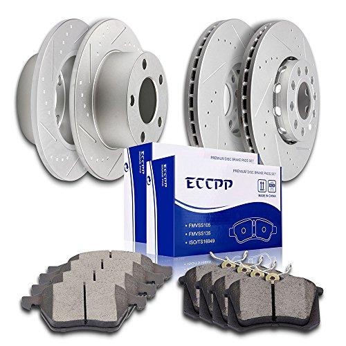 Brakes and Rotors, ECCPP Front Rear Discs Brake Rotors and Ceramic Pads Brake Kit for 2004 2005 Volkswagen Passat