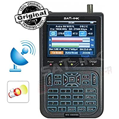 Satlink WS-6908SE RUBBER Second Edition Froggit satellite DVB-S satellite finder meter TFT 8 9 Note  Many sell WS6908 LED SE  but ship the 6908th Check detail the additional wireless tions and the package label  The normal 6908 much more